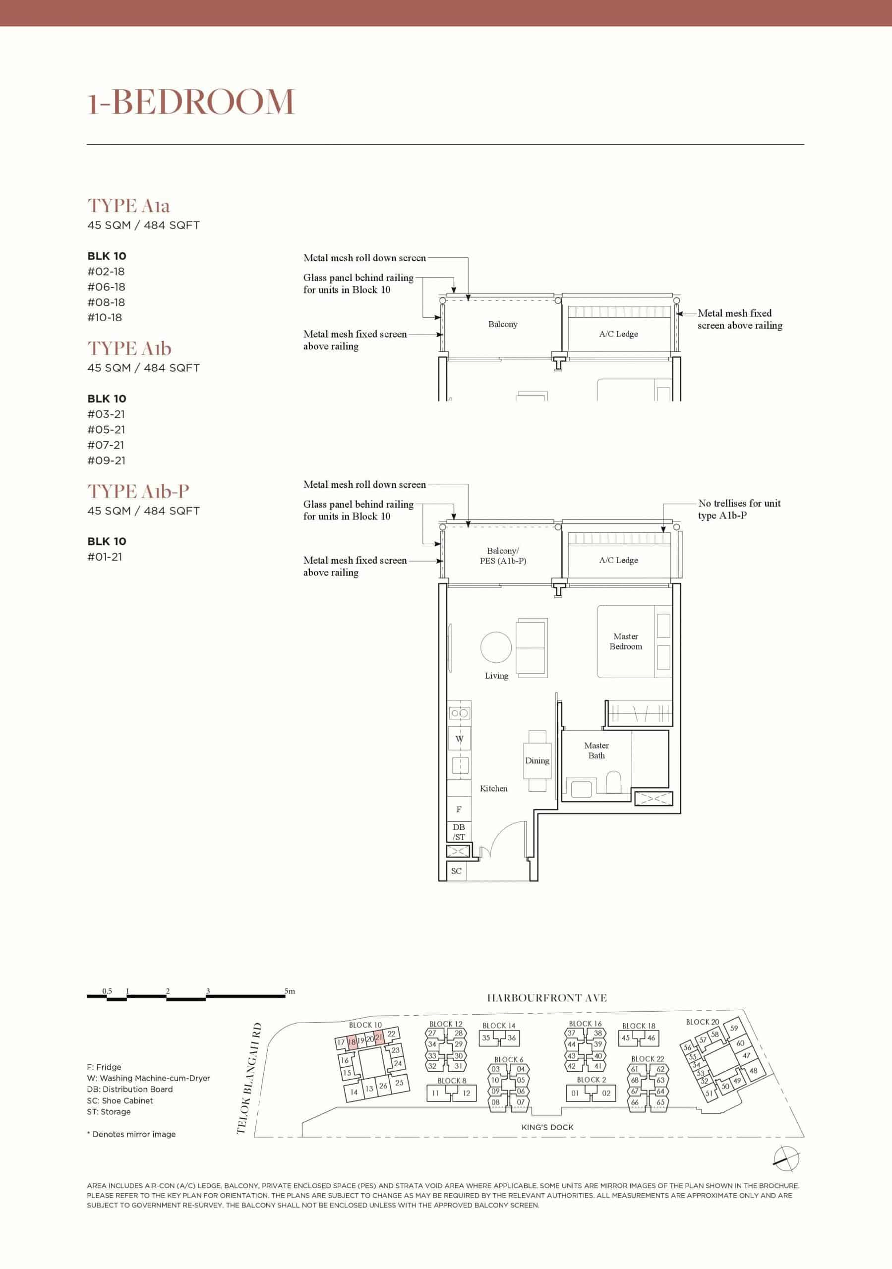 The Reef Floor Plan Type A1a