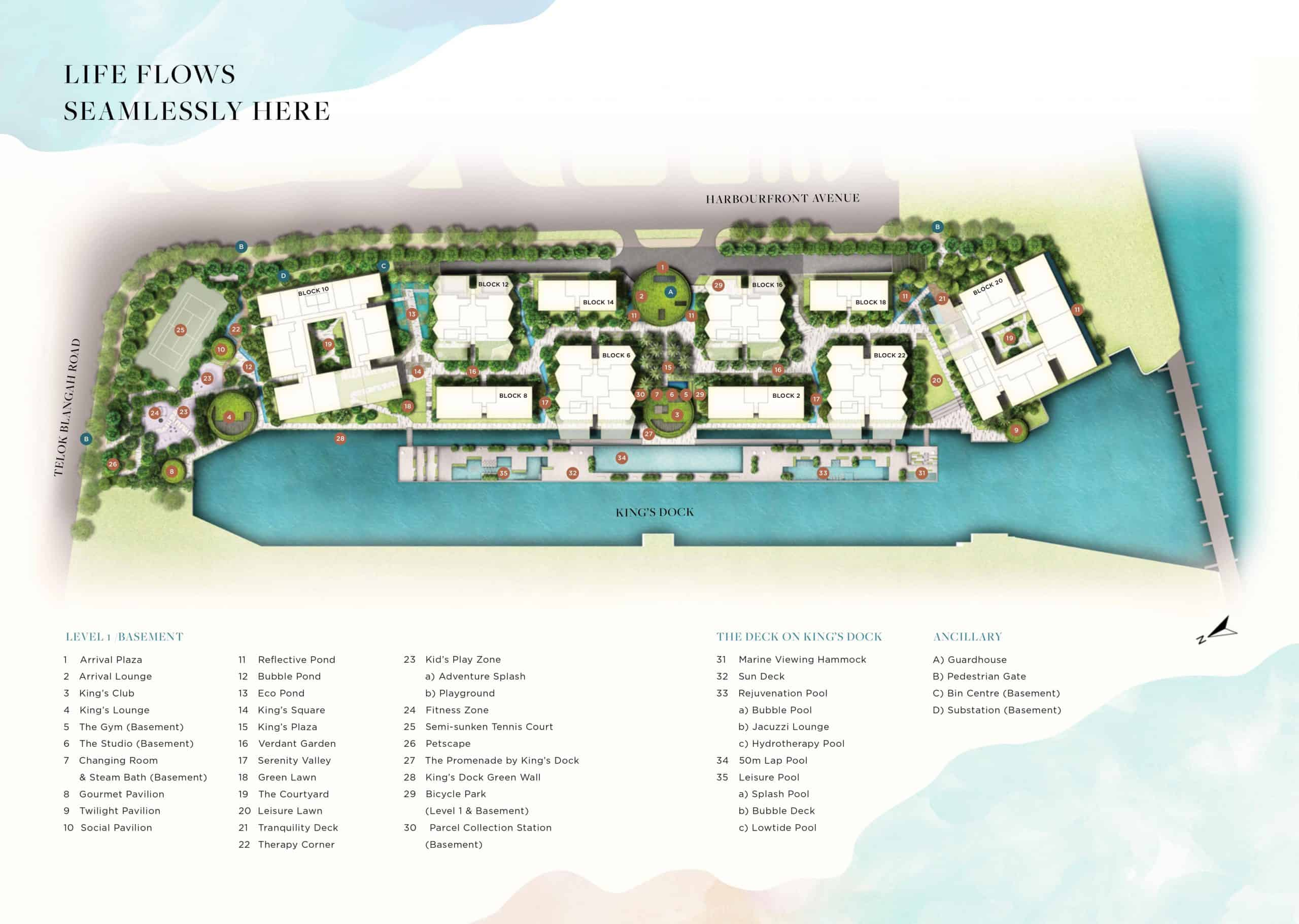 The Reef Site Plan